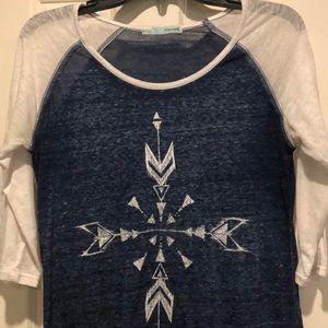 Maurice's 3/4 sleeve detailed shirt